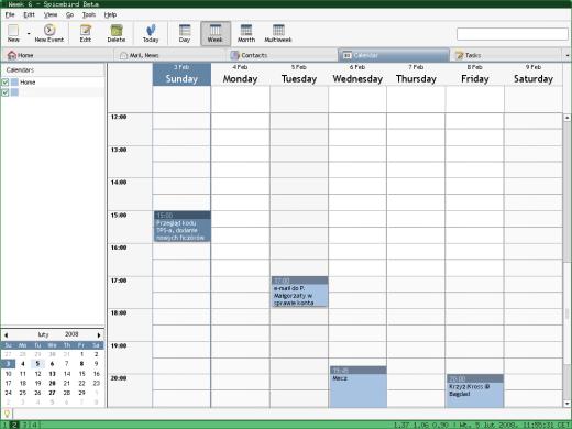 Spicebird - calendar